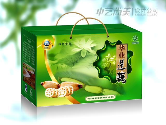 华业莲藕 礼盒包装设计